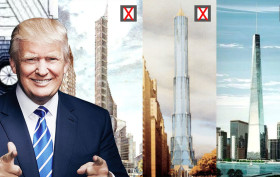 Donald Trump tallest buildings, Trump City, Television City Tower, 10 Columbus Circle, New York Stock Exchange Tower