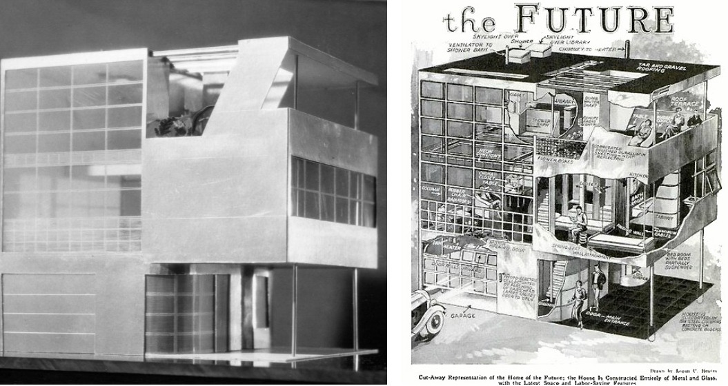 Aluminaire House Model Cross Section