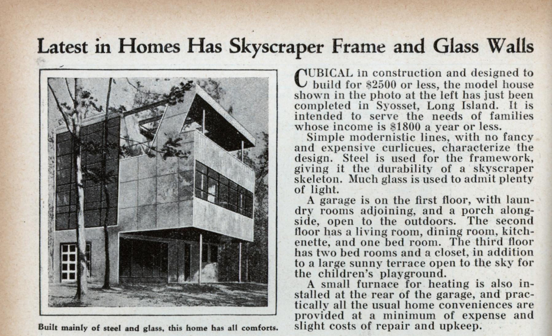 Innovative 1931 Long Island \'Skyscraper House\' Was Built by the ...