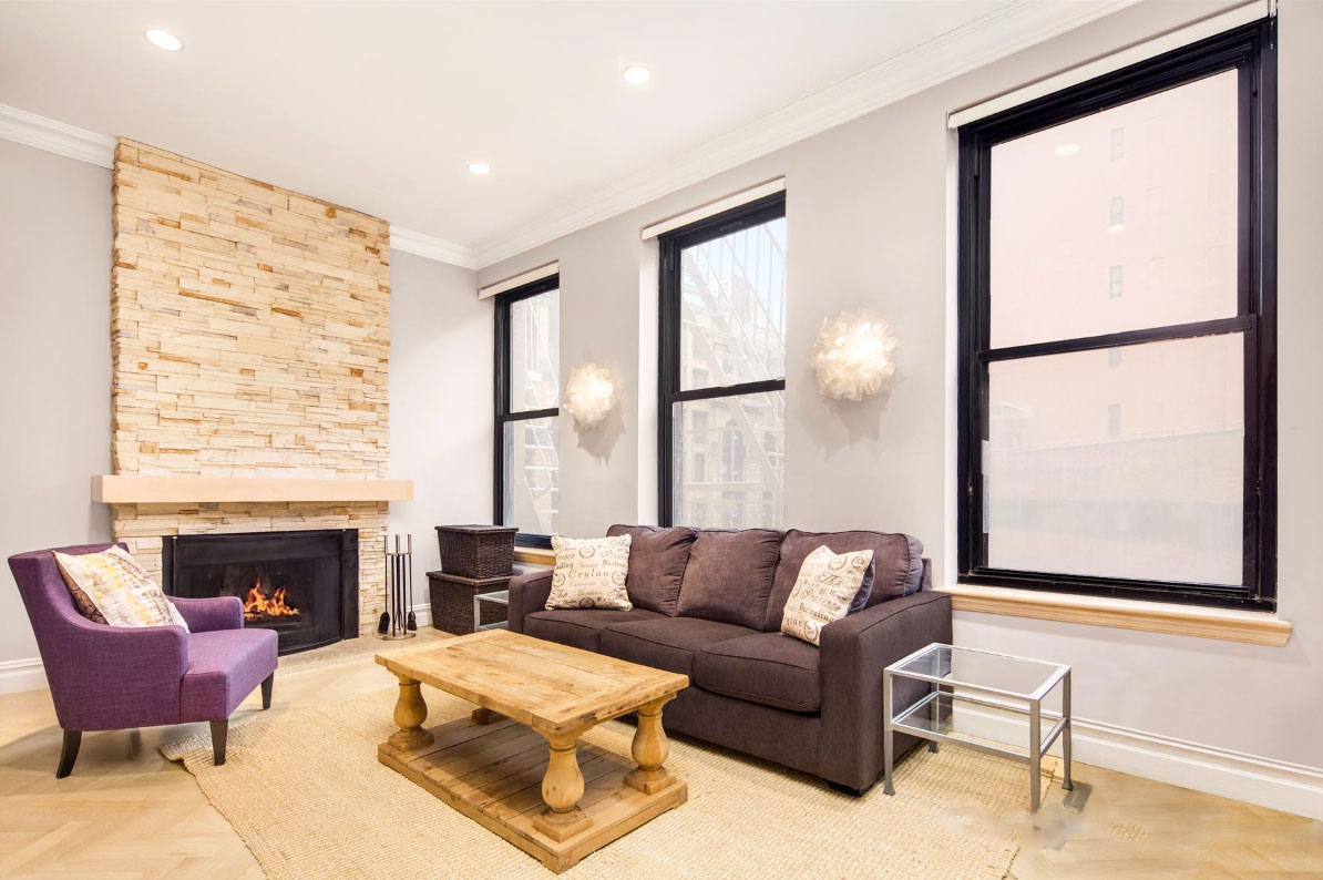 250 Mercer Street, Jessica Chastain, NYC celebrity real estate, duplexes