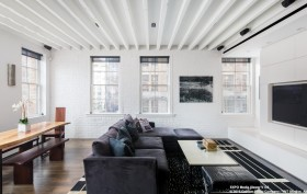 151 Hudson Street, living room, tribeca, rental