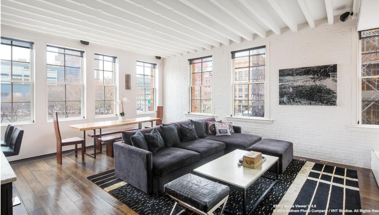 151 hudson street, living room, raad studio, tribeca