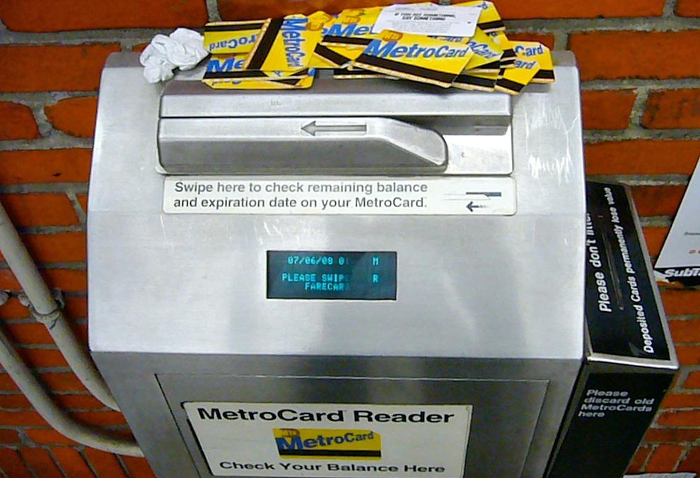 subway turnstile, MetroCard, NYC subway