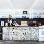 rockaway houseboat, airbnb, kitchen