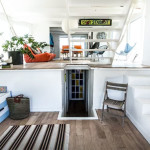 rockaway houseboat, airbnb, entrance
