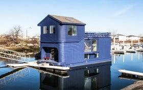 rockaway house boat, airbnb
