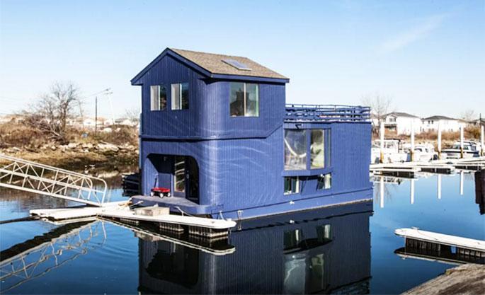 Funky Rockaway Houseboat Dubbed Ziggy Stardust Now