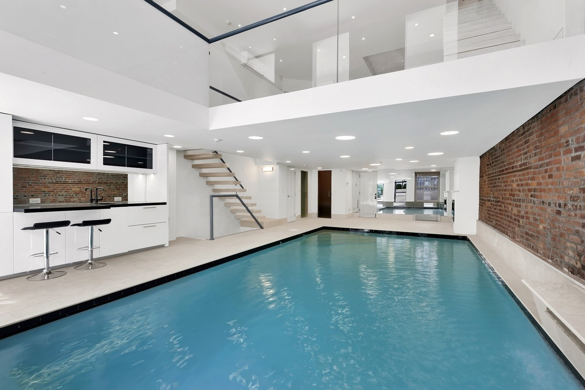 This $12M Chelsea Townhouse Has a 30-Foot Saltwater Pool in