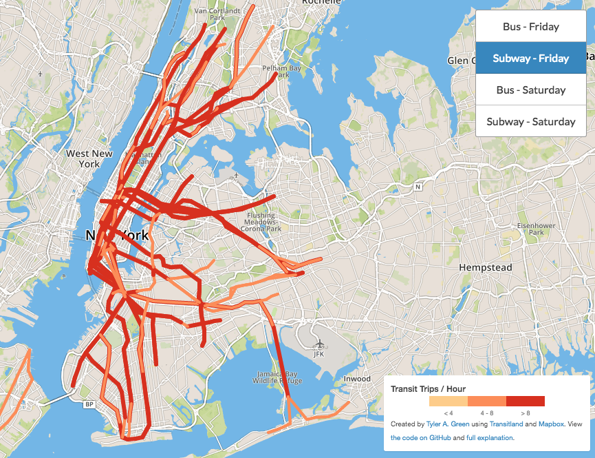 This Map Tells You How Frequently NYC Subways Actually Run Sqft - Map of every subway in us