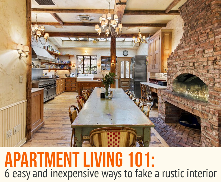 6 Easy and Inexpensive Ways to Fake a Rustic Interior | 6sqft