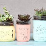 DIY Mason Jar Succulent Vases