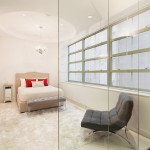 195 Hudson Street, glass-enclosed bedroom, tribeca, bedroom