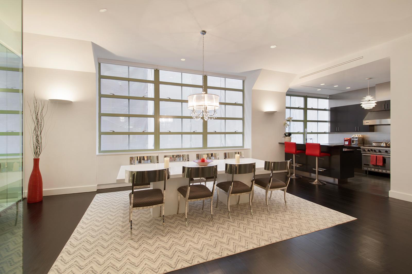195 hudson street, dining room, tribeca