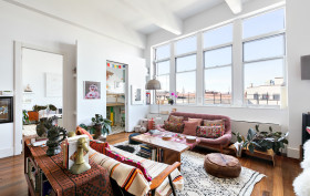 60 Broadway, living room, williamsburg, condo