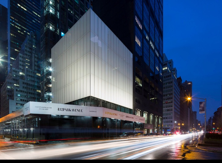 432 park avenue reveals glowing white cube for retail