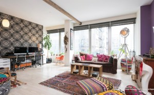 111 fulton street, living room, tribeca,