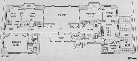 220 Central Park South-penthouse-floorplan-1