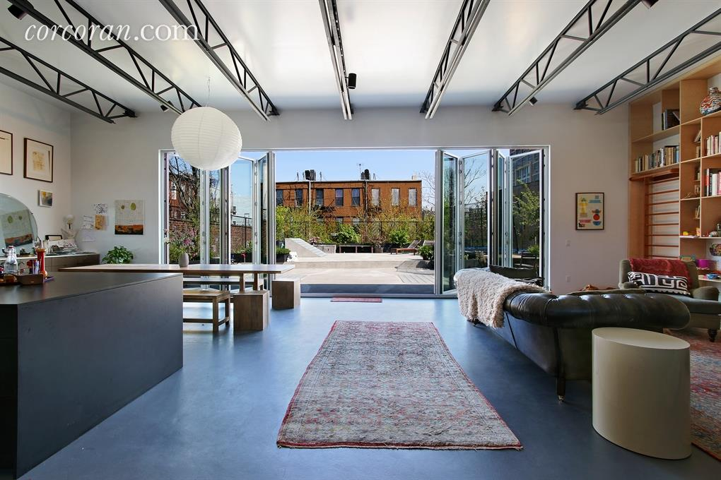 bushwick living room. Former Bushwick Factory Gets a Stunning Designer Upgrade  Asks 3 5M