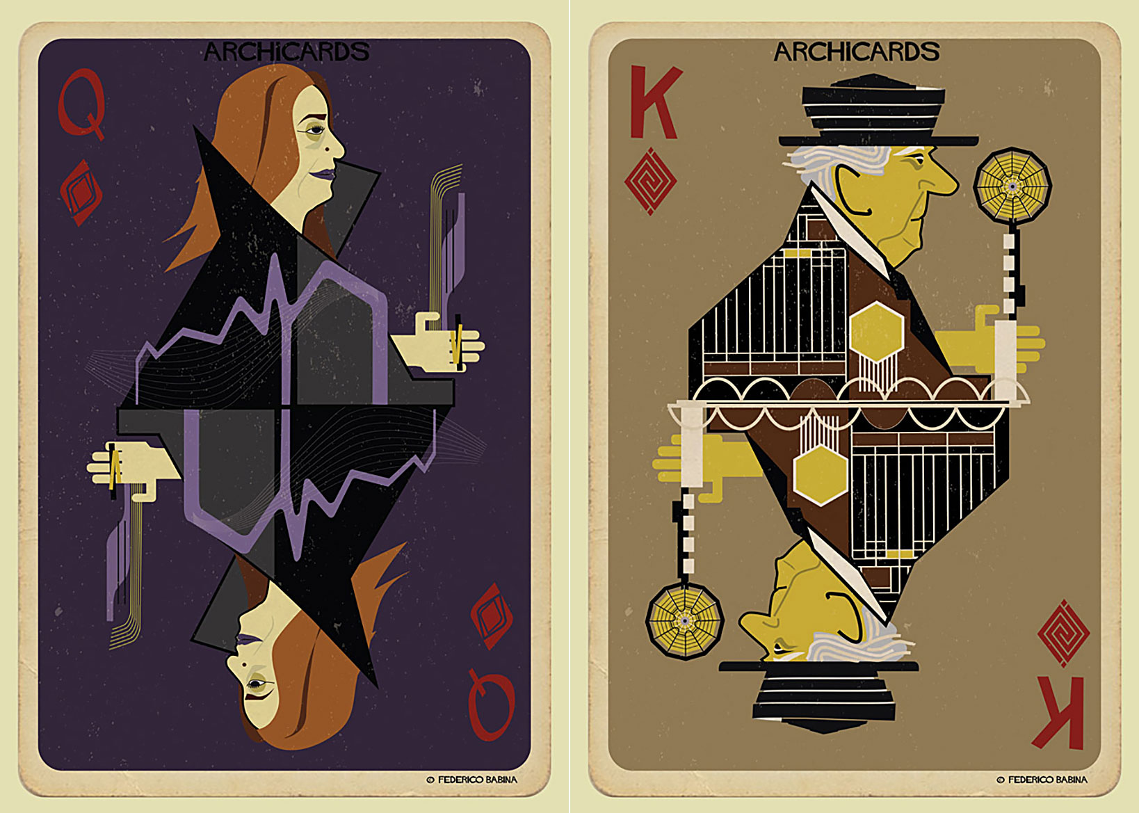 Iconic Architects quirky playing cards are designed with history's most iconic