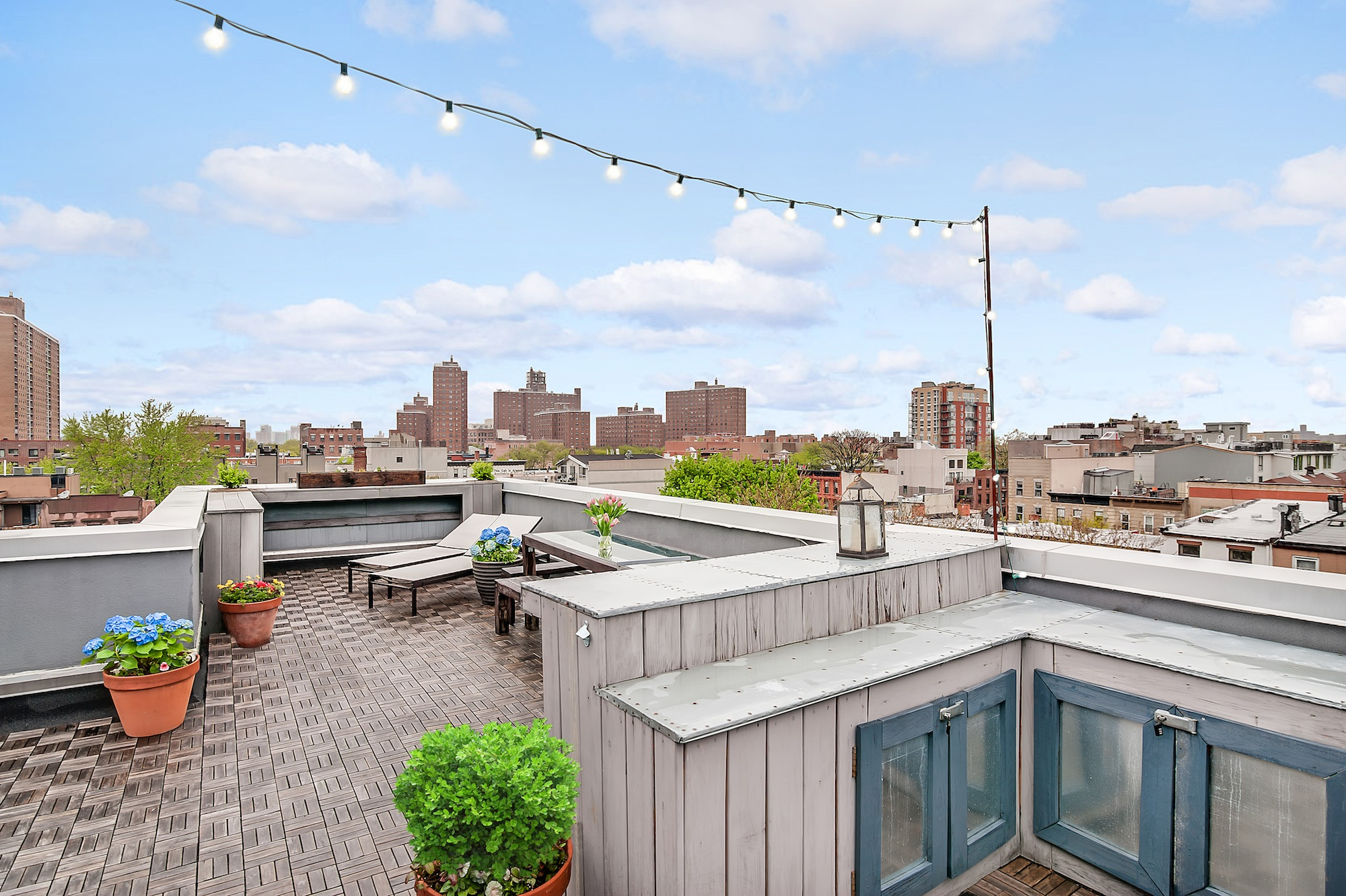 27 Quincy Street, clinton hill, roof deck