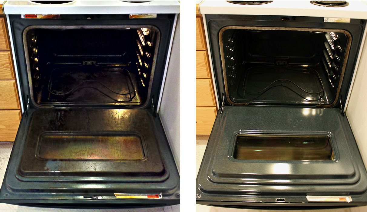 using amonia in oven before-and-after