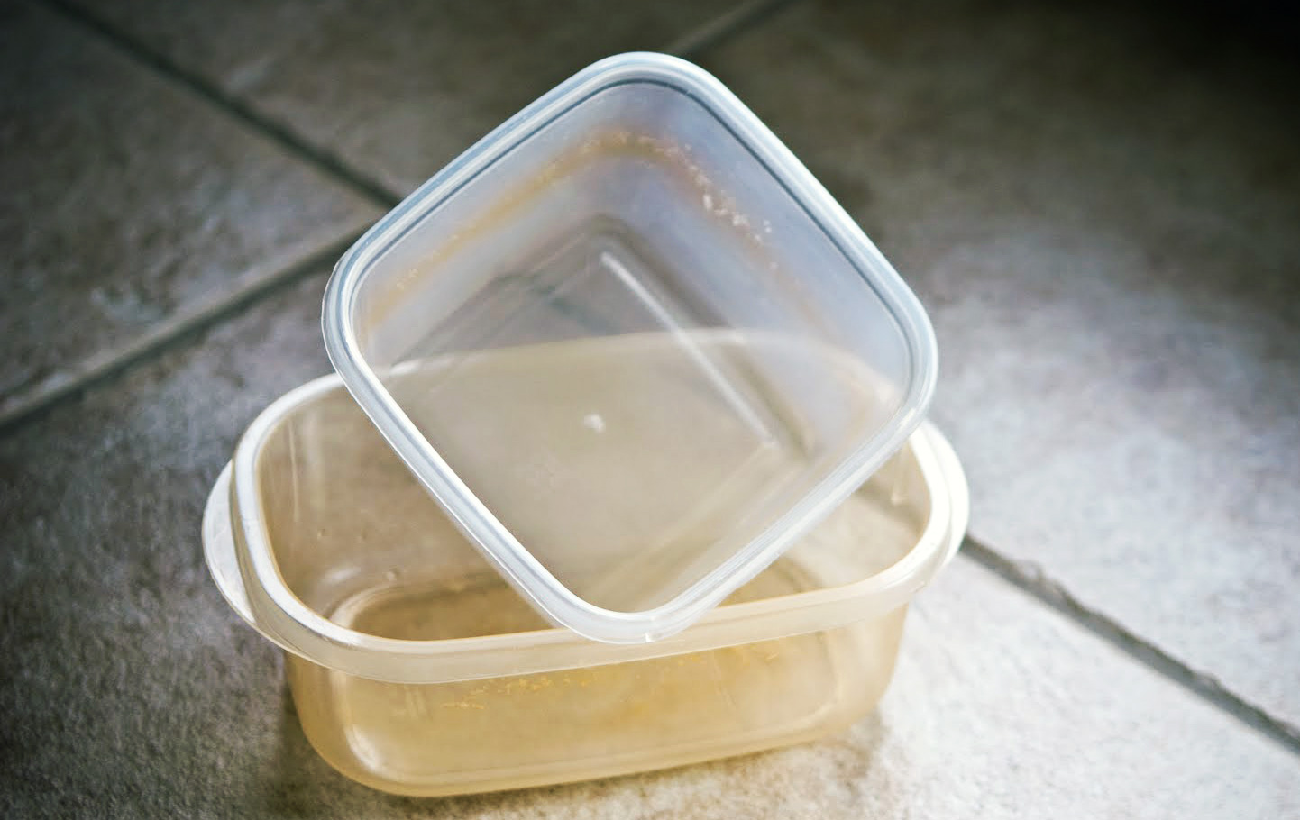 stained food containers