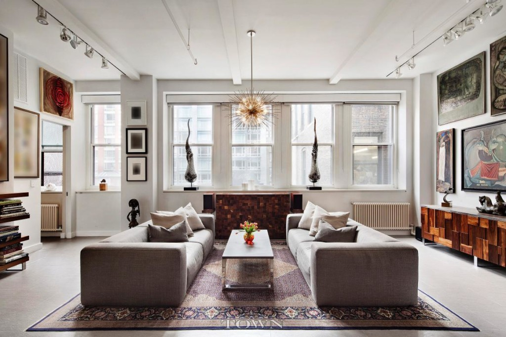 143 west 20th street, chelsea, living room, co-op