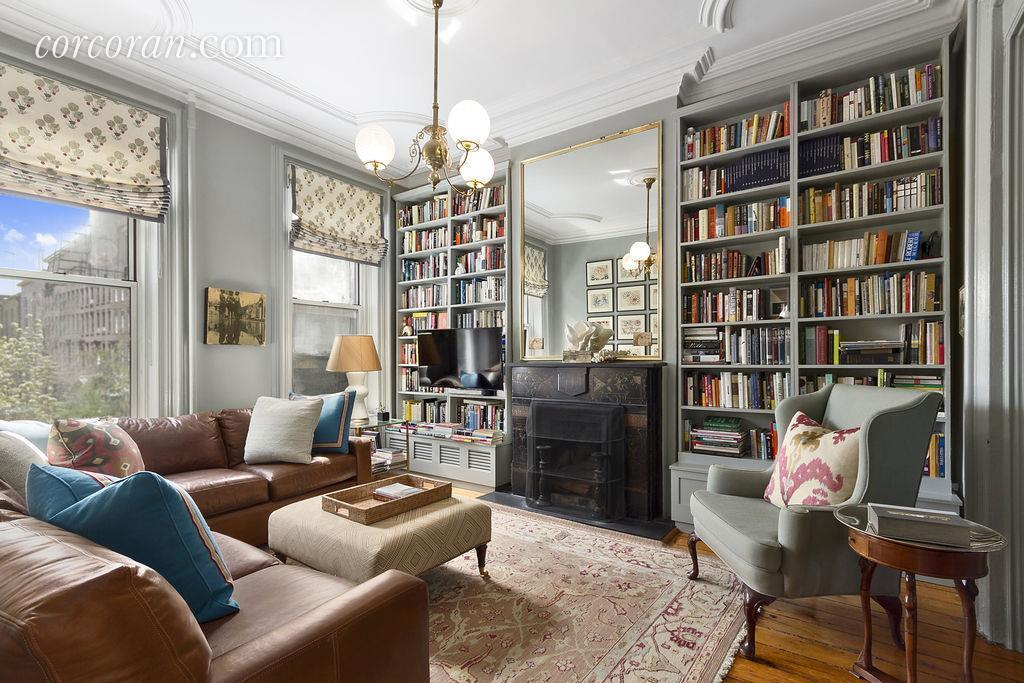 The elegantly designed interiors at this carroll gardens for Living room west 6 brooklyn