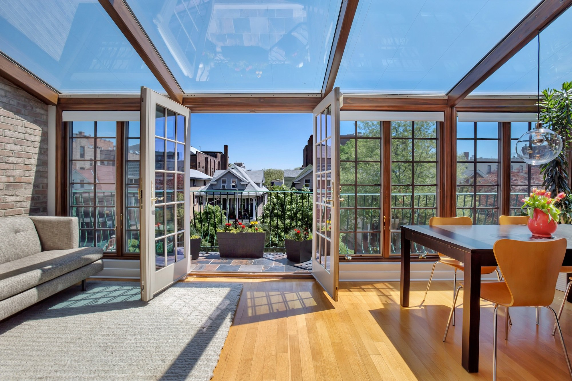 Attractive A Mini Solarium Brings Serious Sunlight To This $835K Kensington Apartment