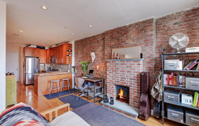 252 West 123rd Street, harlem, living room, fireplace, condo