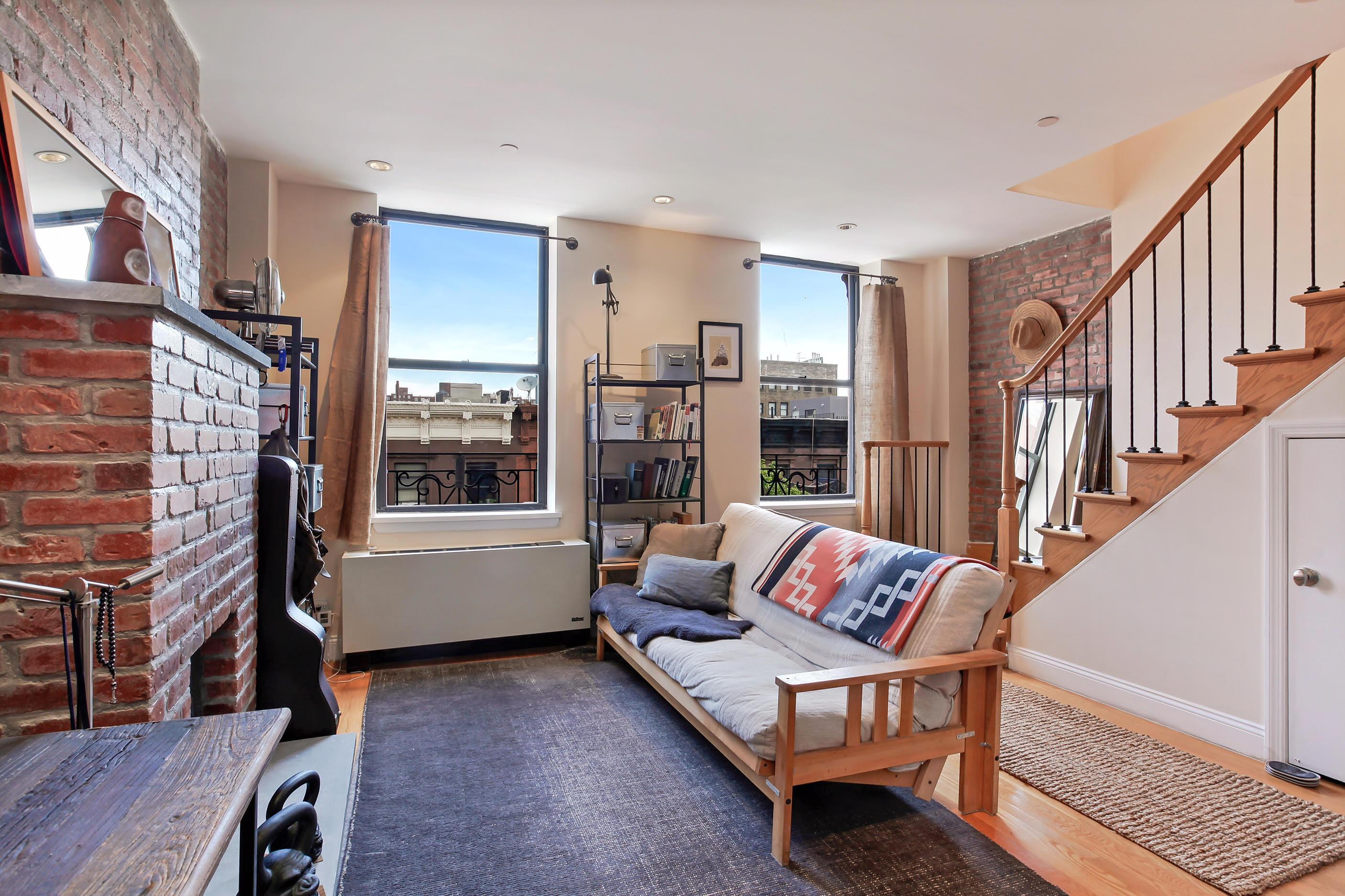 252 West 123rd Street, harlem, living room, fireplace, condo