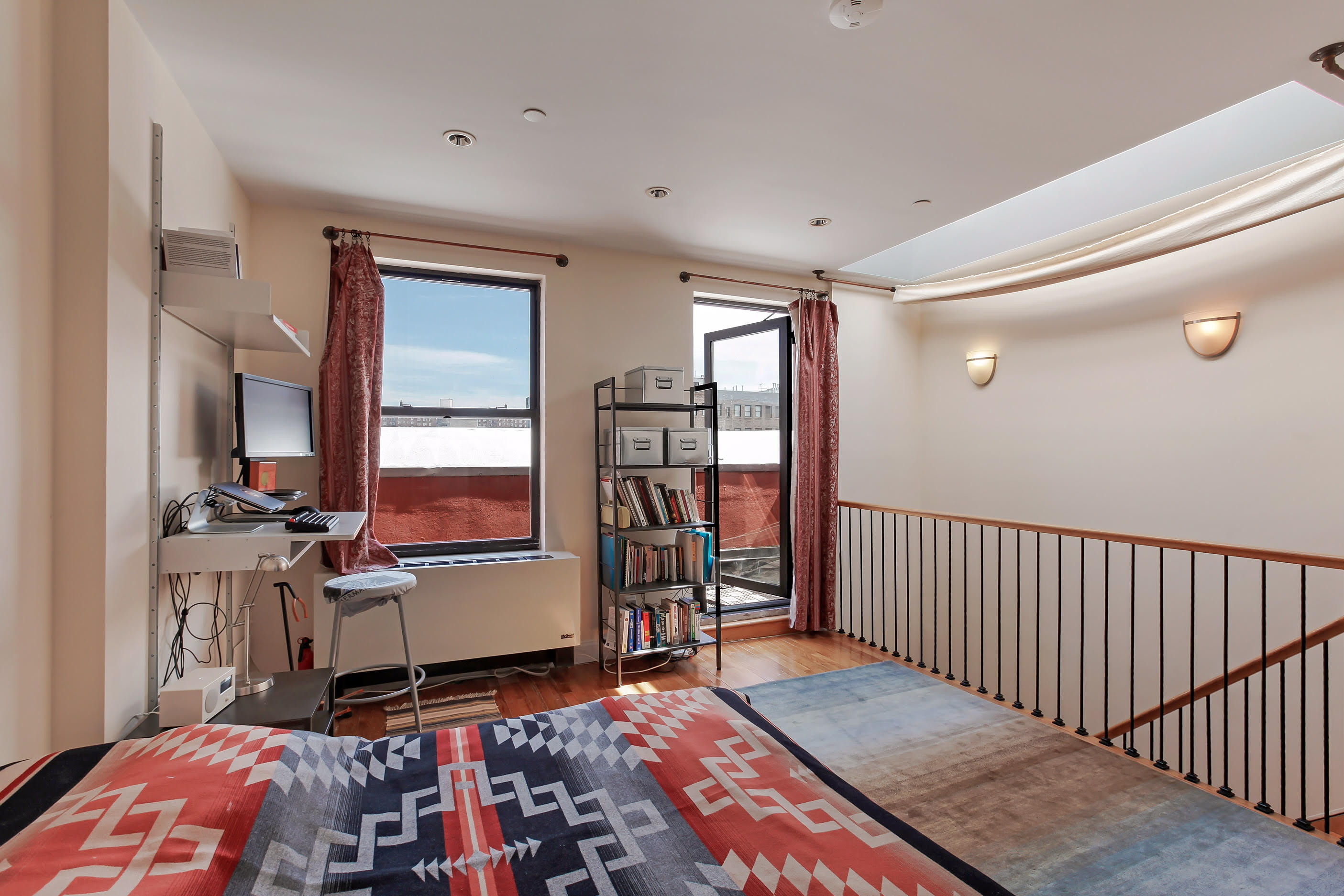 252 West 123rd Street, harlem, upstairs, bedroom, terrace, duplex, roof