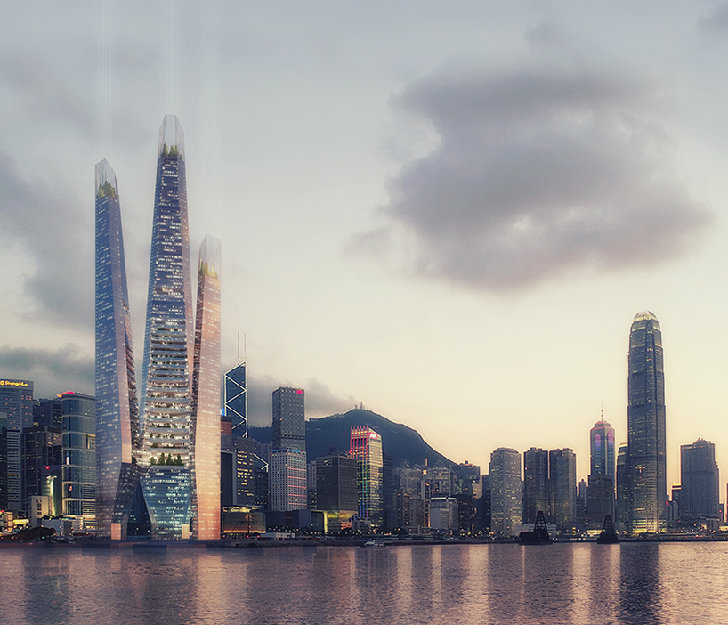 Proposed Arcology Tower in Hong Kong by Weston Williamson Partners