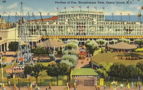 Steeplechase Park, Coney Island amusement parks, George Tilyou, historic Coney Island