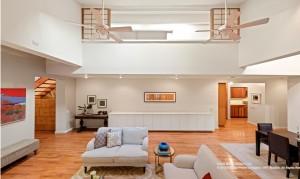 25 joralemon street, brooklyn heights, living room, co-op, living room