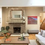 25 joralemon street, brooklyn heights, living room, fireplace