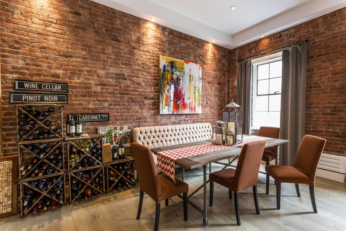 272 water street, south street seaport, condo, loft, dining area