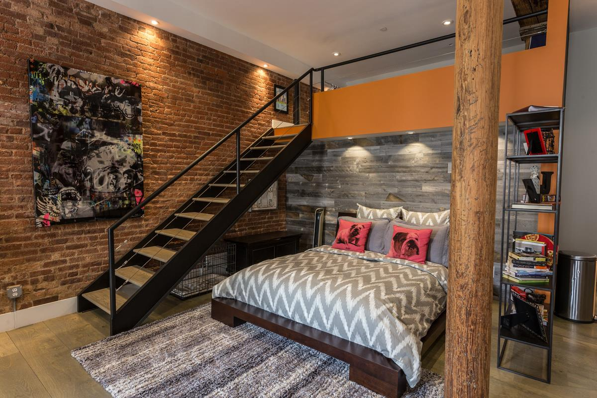 272 water street, south street seaport, condo, loft, master bedroom