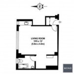 235 East 22nd Street, floorplan, alcove studio, co-op