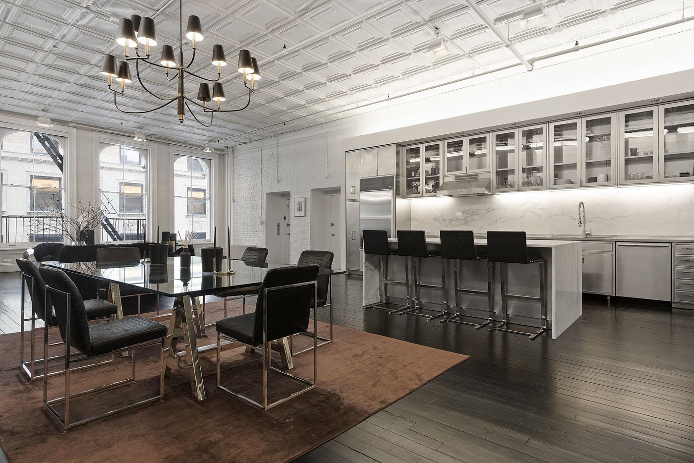 alexander wang lists luxuriously moody tribeca loft for 6sqft. Black Bedroom Furniture Sets. Home Design Ideas