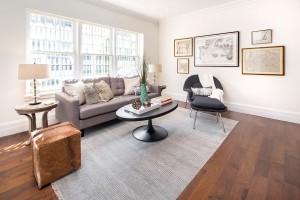 61 washington mews, greenwich village, living room
