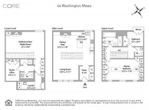 61 washington mews, greenwich village, floorplan
