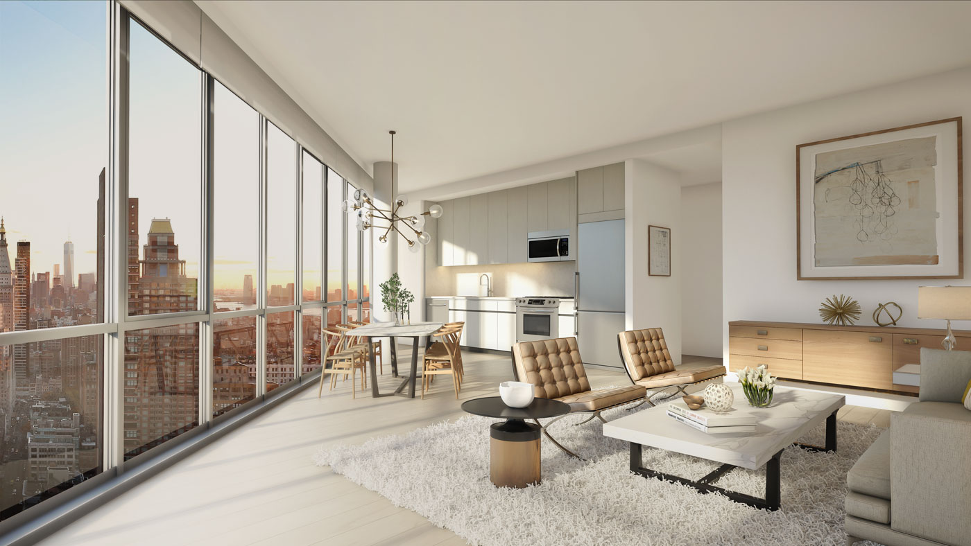 Luxury Home Design Plans Angular Skyscraper One Sixty Madison Offering Two Months