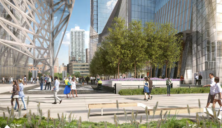 10 hudson yards public plaza entrance