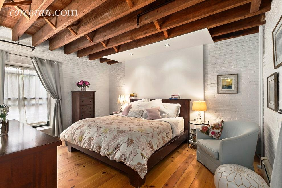 211 east 2nd street, the carriage house, rental, east village, master bedroom