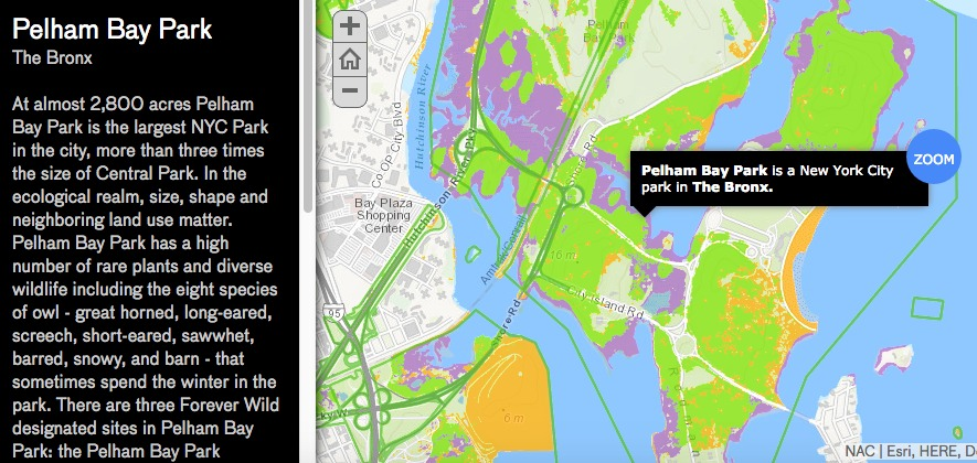 Natural Areas Conservancy-map-Pelham Bay Park