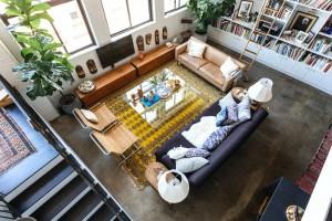 Space Exploration, Williamsburg loft, living room