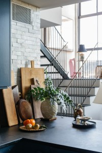 Space Exploration, Williamsburg loft, staircase