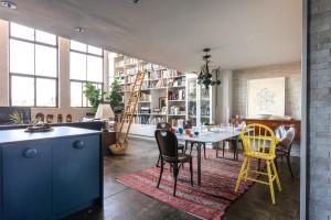 Space Explorations, Williamsburg loft, living room