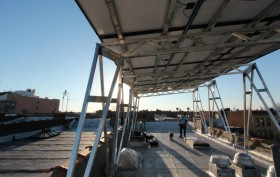 Solar canopy by brooklyn solarworks and situ studio